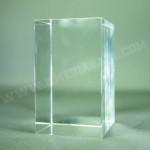 Bloc en verre rectangle livré dans un coffret individuel