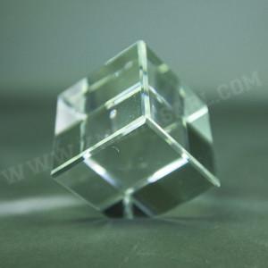 Bloc en verre carré livré dans un coffret individuel