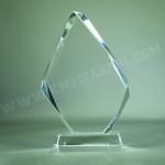 Bloc en verre triangle livré dans un coffret individuel
