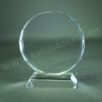 Plaques en verre ronde