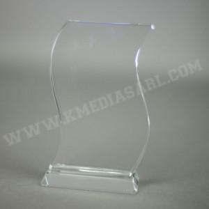 Bloc en verre en forme de vague livré dans un coffret individuel