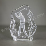 Bloc image incrustée : swing de golfeur