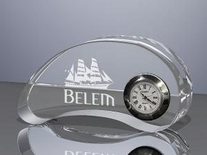 Kmédia horloge de bureau en verre d