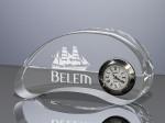 Horloge de bureau en verre Belem